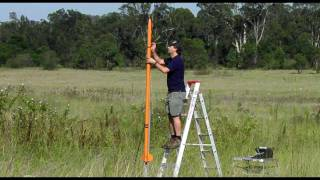 getlinkyoutube.com-Fiberglass Water Rocket flies over 1000 feet