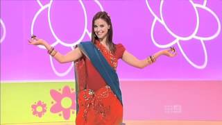 getlinkyoutube.com-Hi-5 Lauren Indian Saree dance 2011