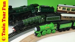 getlinkyoutube.com-FLYING SCOTSMAN Thomas & Friends Wooden Railway with LEGO and Hornby Trains