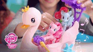 getlinkyoutube.com-MLP: Friendship is Magic Toys – 'Pinkie Pie Swan Boat' Explore Equestria