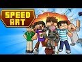SpeedArt - New World - A Minecraft Parody by SkyDoesMinecraft