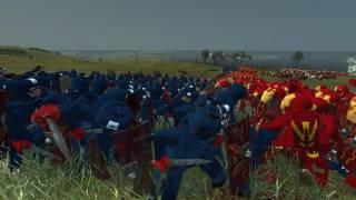 getlinkyoutube.com-Iron Man Versus Captain America Lego Battle - Massive Superheroes Battle Total War Rome 2 Mod