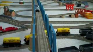 getlinkyoutube.com-Trackmaster 3 Speed R/C Thomas And Friends James & Spencer Remote Control Kids Toy Train Set