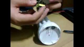 getlinkyoutube.com-Mengganti komponen lampu 45 watt yang rusak dengan 18 watt