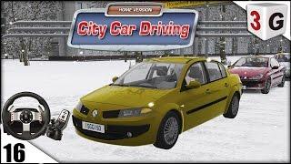 getlinkyoutube.com-CITY CAR DRIVING - MOD RENAULT MEGANE 2.0 ACELERANDO NA NEVE...