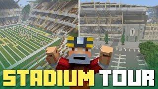 getlinkyoutube.com-Minecraft Xbox One: Full-Scale Football Stadium!