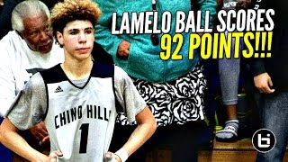 getlinkyoutube.com-LaMelo Ball Scores 92 POINTS!!!! 41 In The 4th Quarter!! FULL Highlights! Chino Hills vs Los Osos!!