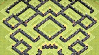 getlinkyoutube.com-*Clash Of Clans* Town Hall 9 Anti GoWipe Base (Anti Two Star Base)