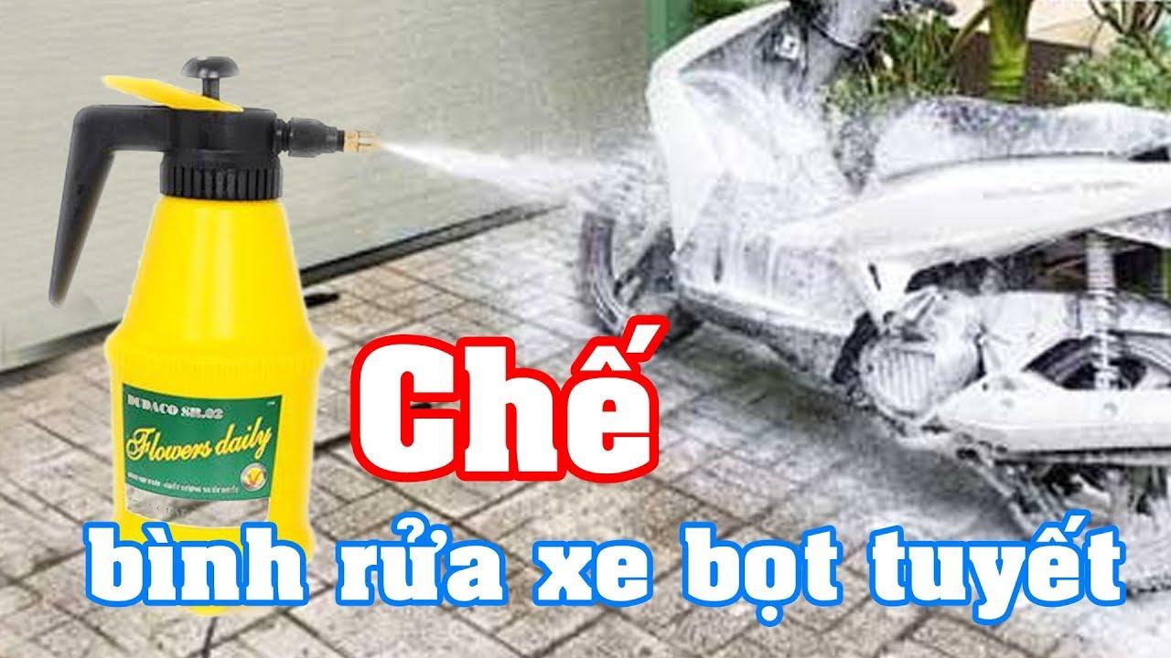 Cách làm bình rửa xe bọt tuyết (Homemade Snow Wash)