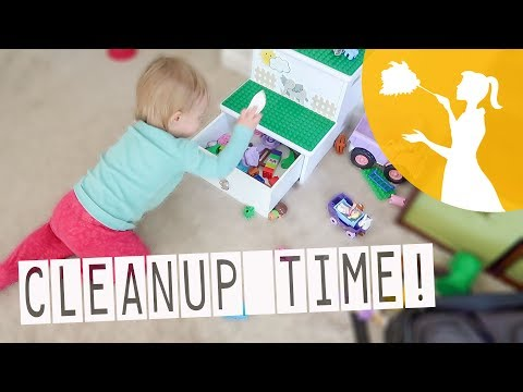 Teaching Your Toddler To Clean Up!