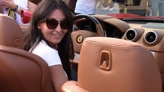 getlinkyoutube.com-Two Girls Revving Like There's No Tomorrow: Lamborghini Huracán vs Ferrari California!