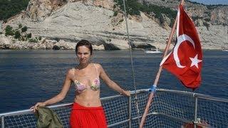 getlinkyoutube.com-Экскурсия по Турции в июле Анталия, Кемер, Бельдиби, Помуккале. PARADISE APPLE HOTEL 3*
