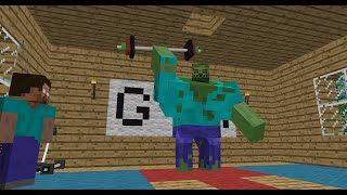 getlinkyoutube.com-Monster School: Bodybuilding - Minecraft Animation