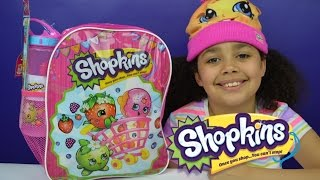 getlinkyoutube.com-Shopkins Surprise Backpack | Season 4 Shopkins Toys Inside | Kids Toy Review