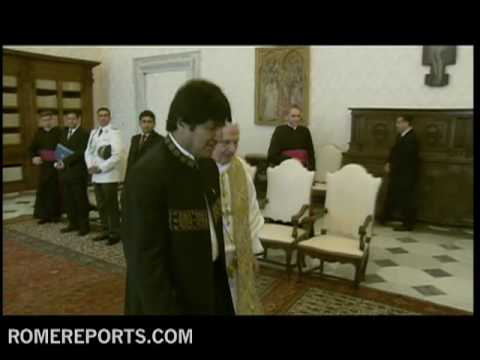 Bolivian President Evo Morales visit with the pope  spontaneous and impolite