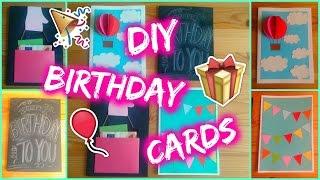 getlinkyoutube.com-DIY: 4 Easy Birthday Card Ideas