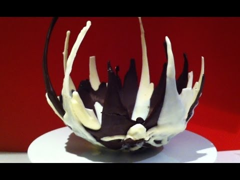 How to make a CHOCOLATE BOWL using a balloon How To Cook That by Ann Reardon