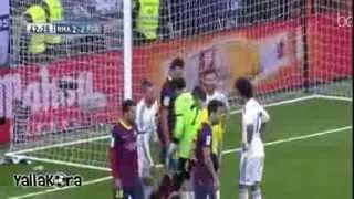 هاتريك ميسي امام ريال مدريد || 2014/03/23 || تعليق حفيظ دراجي [HD]
