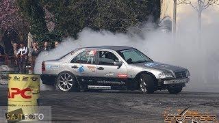 getlinkyoutube.com-Mercedes C 600 V12 AMTS Gymkhana (Drift) Amon Oliver