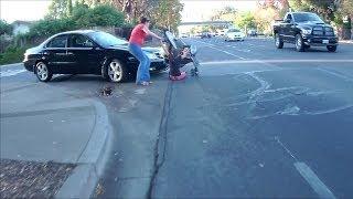 getlinkyoutube.com-Girl Hit by Car in the Crosswalk by a Man on the Phone 4VHF896