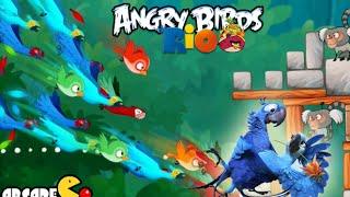 getlinkyoutube.com-Angry Birds Rio: Timber Tumble Level 1-3 3-Stars Walkthrough (Rio 2 Birds)