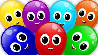 getlinkyoutube.com-balloons color song | rainbow colors song | nursery rhyme | learn colors