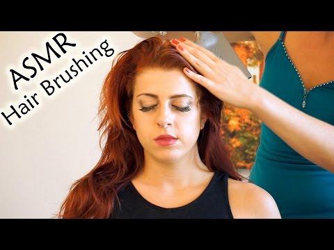 ♥ Wow! ASMR Hair Brushing, Head Massage w/ Hair Play, Soft Spoken Whisper, 3d Binaural Relaxation ♥