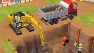 getlinkyoutube.com-Little Builders - Construction Game - Cartoon for Children with Cement Mixer, Diggers and Cranes