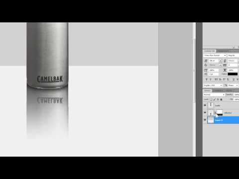 3d cylinder object reflection [Photoshop]