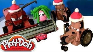 getlinkyoutube.com-Play-Doh Cars Tractor Tippin' Play Doh Fuzzy Friends Tractor Frank Dohville Disney Pixar Dough