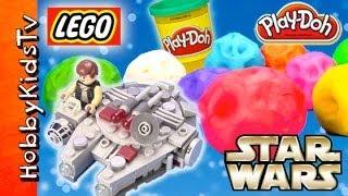 getlinkyoutube.com-PLAY-DOH Surprise Egg Star Wars Astroids HobbyKidsTV