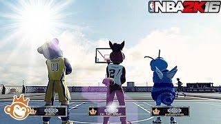 getlinkyoutube.com-NBA 2K16| ALL Legend 3 Mascot SQUAD!! | Streaking @ MyPark!!! - Prettyboyfredo