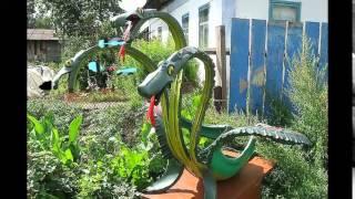 Животные из покрышек - чудные поделки из покрышек для сада