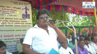 getlinkyoutube.com-Lingaa Loss Distributors Protest | Mansoor Ali Khan Speech | Tamil The Hindu