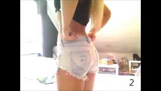 getlinkyoutube.com-Mina jeans-shorts