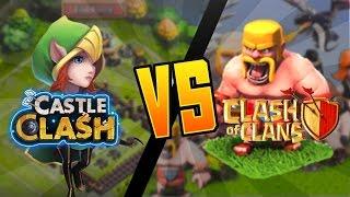 getlinkyoutube.com-Castle Clash VS Clash of Clans!!!
