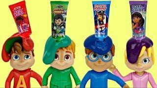ALVINNN!!! & THE CHIPMUNKS: Bath Fingerpaint Tub Time Orbeez Toy Surprises