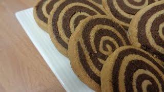 getlinkyoutube.com-سابلي بالشكلاطة على شكل رولي , sablee de chocolate ,حلويات مغربية :حلويات العيد