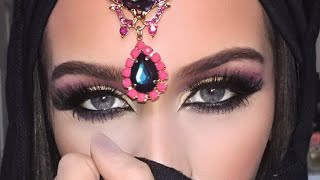 getlinkyoutube.com-Dramatic Arab Style Eye Makeup Tutorial
