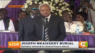 Former Tanzania Prime Minister Edward Lowassa pays tribute to the late CS Nkaissery