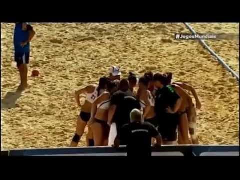 Brasil - Hungría. Final Balonmano Playa World Games 2013.