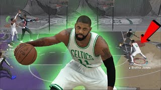 6'10 KYRIE IRVING IS A GLITCH?!! BEST JUMPSHOT IN NBA 2K18 PARK! UNSTOPPABLE DRIBBLE MOVES!