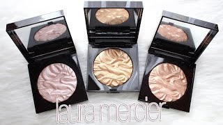 getlinkyoutube.com-Review & Swatches: LAURA MERCIER Face Illuminating Powders | Holiday Palette Breakdown + Dupes!