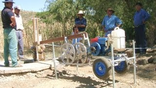 getlinkyoutube.com-Irrigating with DIY PVC hand pump/ 3 HP diesel pumper