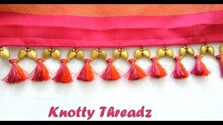getlinkyoutube.com-How to make Double Colored Saree Kuchu / Tassels using Silk Thread and Beads at Home | Tutorial !!