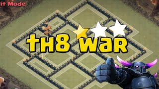 getlinkyoutube.com-Melhor Layout cv8 WAR/PUSH Ant PT - clash of clans