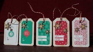getlinkyoutube.com-easy christmas presents tags - using pattern paper - SSS kit november  #3 2014