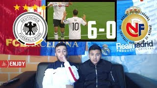 GERMANY DESTROYED NORWAY WITH 6-0 - Highlights REACTION