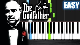 getlinkyoutube.com-The Godfather Theme - EASY Piano Tutorial by PlutaX
