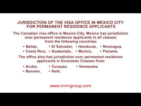 Jurisdiction of the visa office in Mexico City for permanent residence applicants